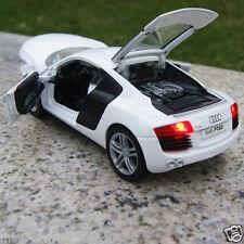 Audi R8 1:32 Model Cars Alloy Diecast Sound & Light Kids Gift Light White New