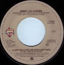 EMMYLOU HARRIS On Our Last Date ((**NEW UNPLAYED 45**)) from 1982