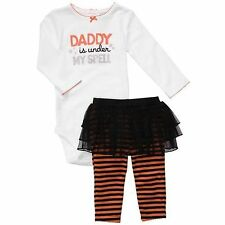 New $30 Baby Girls CARTERS Size 3-6mo Halloween Costume 2pc Bodysuit+Pants Set