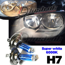 2x H7 SUPER XENON WHITE HEADLIGHT BULBS 6000K AUDI BMW MERCEDES FORD GOLF Hid 6k