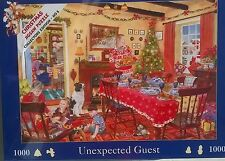 1000 PIECE HOUSE OF PUZZLES JIGSAW PUZZLE CHRISTMAS UNEXPECTED GUEST ! NEW