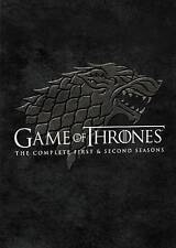 Game of Thrones: The Complete First & Second Season (DVD, 2014, 10-Disc Set) NEW