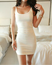 Sexy Women Sleeveless Slim Cotton Tank Top Camisole Vest Bodycon Cocktail Dress