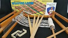 Spear's Vtg Wood Weaving Loom Sz 4 Made in England COMPLETE w/ Instructions Plus