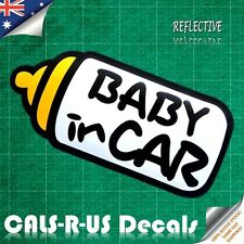Baby in Car Bottle Family Safety Kid Nursery Reflective Car Vinyl Decal Sticker