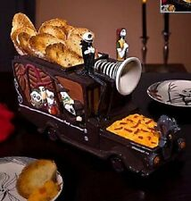 HALLOWEEN DISNEY NIGHTMARE BEFORE CHRISTMAS HEARSE SNACK DISH + 2 HALLMARK