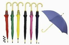 UMBRELLA 8 PANEL WITH WOODEN CROOK HANDLE 90CM TALL BLACK IN COLOUR TY3303