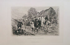 William Brasse Hole The End of the Forty Five Rebellion 1882 Radierung Etching