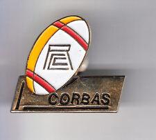 RARE PINS PIN'S .. SPORT RUGBY CLUB TEAM R.C.C. CORBAS FEYZIN 69 ~C1