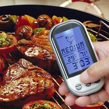 Remote Wireless Digital Kitchen Cooking Meat Thermometer with Timer for BBQ