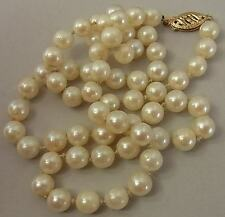 VINTAGE CULTURED SEA PEARL NECKLACE WITH 14CT GOLD CLASP
