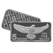 4 - 5 Gram 999 Fine Silver Bars - Monarch Struck Eagle - Uncirculated