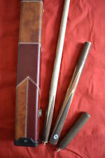 3/4 HANDMADE ASH SNOOKER / POOL CUE + ST GEORGE FLAG CASE SET ALL INCLUDED