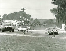 Vintage 8 X 10 1969 Sebring Austin Healey Sprite, Camaro, Ford GT40 Racing Photo