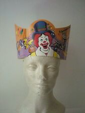 Extremely Rare Big Top Birthday Hat Featuring Ronald McDonald and Friends