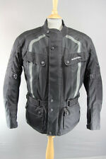 RICHA BLACK TORRENT WATERPROOF BIKER JACKET + CE ARMOUR & THERMAL LINING: LARGE