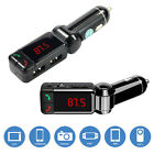 Bluetooth Car Kit Wireless FM Transmitter Dual USB Charger Aux Audio MP3 Player