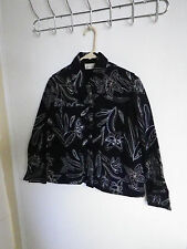 STUDIO WORKS WOMENS PETITE  SMALL BUTTON DOWN EMBROIDERED JACKET TOP COAT
