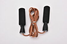 Leather Skipping Speed Rope Adjustable Weighted Fitness Boxing Jump Gym Exercise