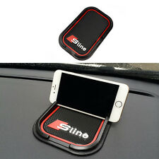 1 Car Black 3D Anti-Slip Rubber Phone Mat Pad GPS Support Holder For Audi S line