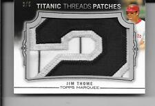 2011 Topps Marquee - JIM THOME - 3 Color Jersey Number Patch - WHITE SOX #d 3/5