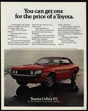 1972 TOYOTA CELICA ST Red Sports Car VINTAGE AD