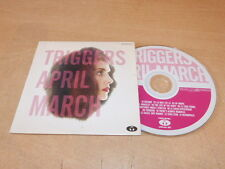 APRIL MARCH - TRIGGERS  - RARE FRENCH ONLY PROMO CD !!!!!