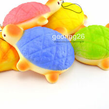 14CM Jumbo Squishy Colorful Turtles Hand Pillow Slow Rising Bread Bun Toy Charm