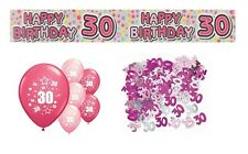 30th BIRTHDAY PARTY PACK DECORATIONS BANNER BALLOONS (EX.P.3)
