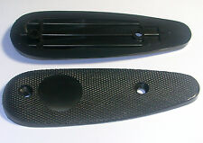 "2 Black Plastic Butt Plate 5"" Long w Holes 3"" On Center NEW Rifle Shotgun Plates"