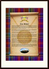 CLAN STEWART - Clan History, Tartan, Crest, Castle & Motto MOUNTED PRESENTATION