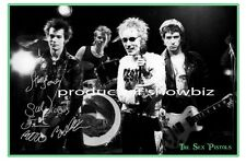 * THE SEX PISTOLS* Large signed poster of music stars! Great piece for wall!