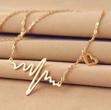 Trendy Lady Silver Gold Irregular Pendant Chain Necklace Charms