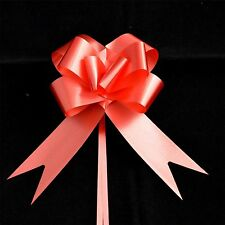 5 Pull Bow RED Ribbons Wedding Floristry Christmas Present Gift Decorations 30mm