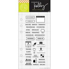 """Hero Arts Clearly Kelly Appointment Planner 2.5""""x6"""" Clear Stamp Set CL933"""
