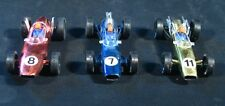 """Lot of PMC Plastic Indy Cars ~ F1 Race Cars ~ 5"""" long ~ Nice lot of 3"""