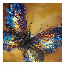 Oil Handmade Painting Butterfly Canvas Modern Abstract Decor Wall Art No Frame
