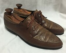 Mens Italian Leather Multi-tone Oxfords Kenneth Cole Algonquin Moc Toe 10 Brown