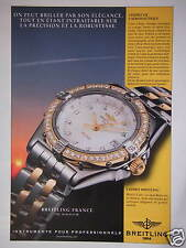 PUBLICITÉ PAPIER 1999 MONTRE BREITLING WINGS LADY - ADVERTISING