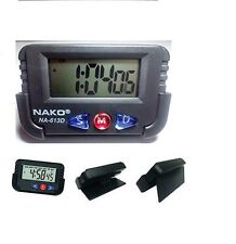 NAKO DIGITAL LCD TABLE ALARM CLOCK DESK CAR Calendar TIMER STOPWATCH