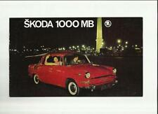 SKODA  1000 MB SALES BROCHURE LATE 60's