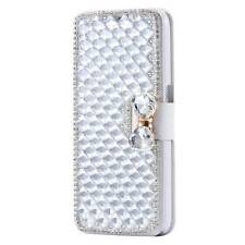 Diamond Magnetic Leather Wallet Case Card Slots Stand Cover for Samsung iPhone