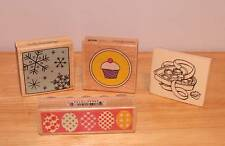 Rubber Stamps- Easter Egg Snow Flakes Cupcake Heart Candy Box. Look Unused.