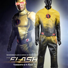 The Flash Eobard Thawne Reverse-Flash Cosplay Costume Free Shipping With Hat