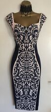 Mother Of Bride Lipsy NWT Fitted Pencil Illusion Wedding Party Dress UK 10 - 12