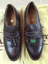 Men's Alden New England Dark Brown Tassel Mocassin Shoes 8B NWOB List $508