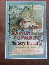 Vintage Laminated Advertisement Poster Huntley & Palmers Biscuits Advertising
