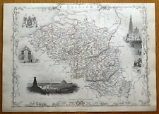BELGIUM, RAPKIN & TALLIS original antique illustrated map c1850