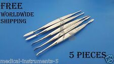 Dental Lecron Wax Carver Modeling Knife 5 Pieces Dental Laboratory Tools
