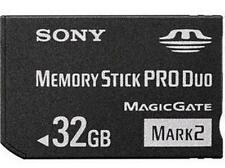 32GB Mark2 Memory Stick Card MS Pro Duo For SONY PSP CAMERA One Year Warranty